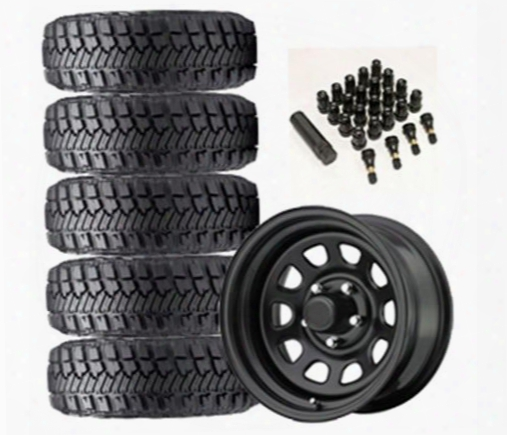 Genuine Packages Goodyear Wrangler Mt/r With Kevlar 33x12.50r-15lt And Trail Master Tm5 Wheel 15x8 Package - Set Of 5 - Tirepkg16 Tirepkg16 Tire And W