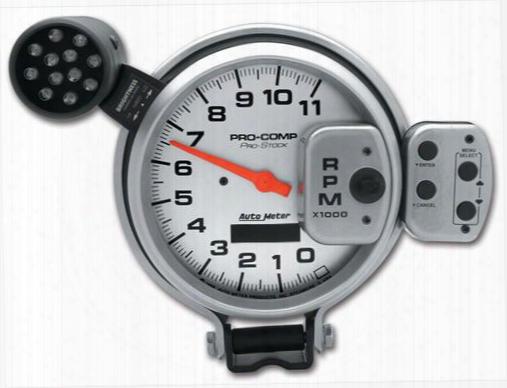 Auto Meter Auto Meter Pro Stock Silver Tachometer - 6834 6834 Gauges