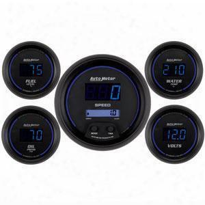 Auto Meter Auto Meter Cobalt Digital 5 Gauge Set Fuel/oil/speedo/volt/water - 6900 6900 Gauge Set