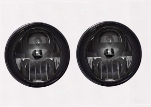 Recon Recon Led Projector Headlights (black) - 264274bk 264274bk Headlights, Housings And Conversions