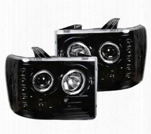 Recon Recon Projector Headlights (smoke) - 264271bk 264271bk Headlights, Housings And Conversions
