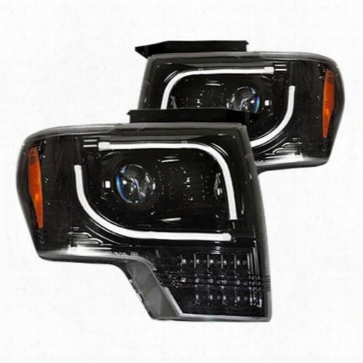 Recon Recon Projector Headlights With Led Turn Signals (smoke) - 264273bkc 264273bkc Headlights, Housings And Conversions