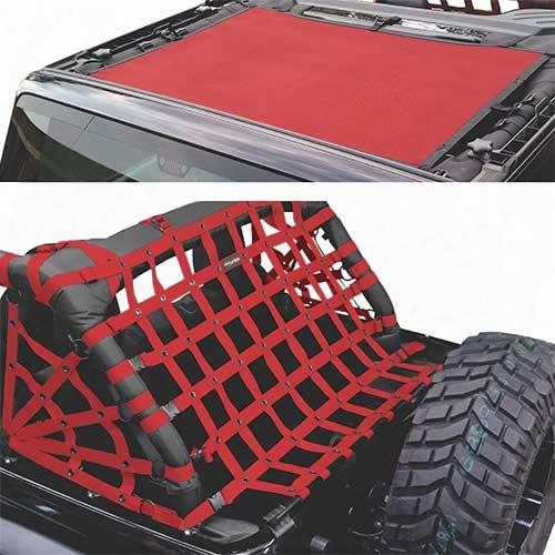 Dirtydog 4x4 Sun Screen With Rear Cargo Net J2ns07rsrd Brief Top