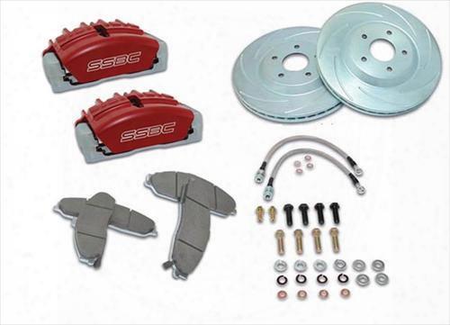 Stainless Steel Brakes Stainless Steel Brakes Tri-power 3-piston Disc Brake Kit (anodized) - A117-9 A117-9 Disc Brake Conversion Kits