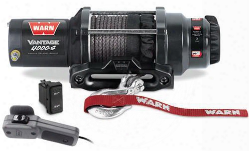 Warn Warn Vantage 4000-s Winch (synthetic Rope) - 89041 89041 3,000 To 6,000 Lbs. Atv Winches
