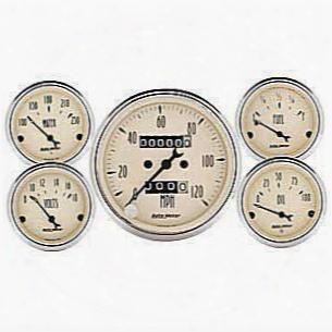 Auto Meter Auto Meter Antique Beige 5 Gauge Set - 1811 1811 Gauge Set