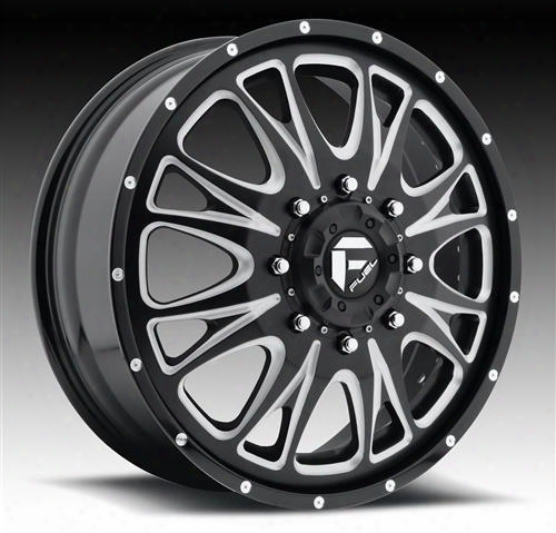 Mht Fuel Offroad Wheels Mht Fuel Offroad Throttle, 22x8.25 Wheel With 8 On 170 Bolt Pattern - Black Milled - D213228217fb D213228217fb Mht Fuel Off Ro