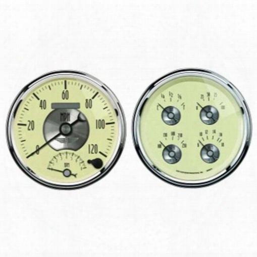 Auto Meter Auto Meter Prestige Series Antique Ivory Quad Gauge/tach/speedo Kit - 2004 2004 Gauge Set