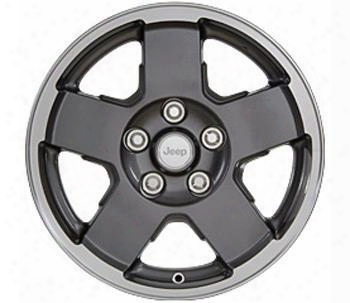 Jeep Jeep 2007-2013 Jeep Jk Wheel, 17x7.5 With 5 On 5 Bolt Pattern - Gunmetal Gray - 82210355ab 82210355ab Chrysler Factory Aluminum Wheels
