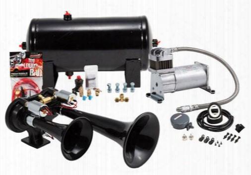Kleinn Train Horns Pro Blaster Dual Air Horn Kit Hk-euro Onboard Air System - Oba
