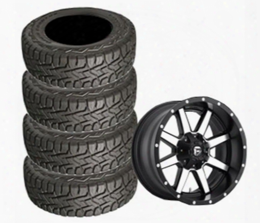 Genuine Packages Toyo 35x12.50r22 Open Country And Maverick Black Machined Wheel 22x10 Package - Set Of 4 - Tirepkg279 Tirepkg279 Tire And Wheel Packa