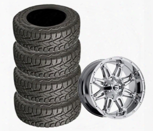 Genuine Packages Toyo 35x12.50r22 Open Country And Maverick Chrome Wheel 22x10 Package - Set Of 4 - Tirepkg281 Tirepkg281 Tire And Wheel Packages