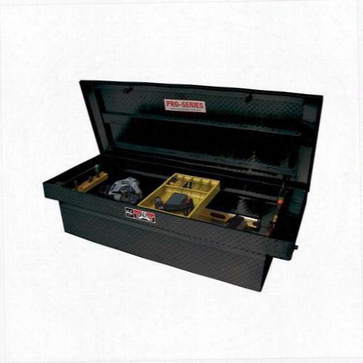 Westin Westin Brute Pro Series Full Lid Crossover Tool Box - 80-rb155fl-b 80-rb155fl-b Truck Bed Rail To Rail Toolbox