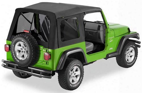 Bestop Supertop Tinted Windows No Doors Black - Jeep Wrangler Soft Top