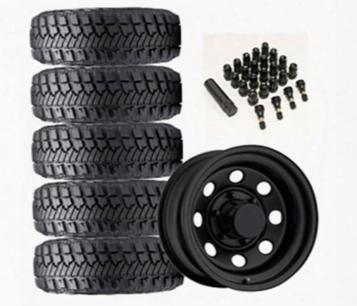 Genuine Packages Goodyear Wrangler Mt/r With Kevlar 33x12.50r-15lt And Trail Master Tm9 Wheel 15x8 Package - Set Of 5 - Tirepkg37 Tirepkg37 Tire And W