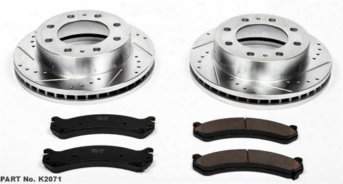 Power Stop Power Stop 1-click Drilled And Slotted Brake Kit - K4423 K4423 Disc Brake Pad And Rotor Kits
