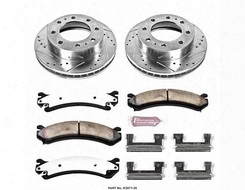Power Stop Power Stop Z36 Severe-duty Truck And Tow 1-click Brake Kit - K4423-36 K4423-36 Disc Brake Pad And Rotor Kits