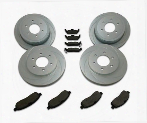 Stainless Steel Brakes Stainless Steel Brakes Turbo Slotted Rotors - A2361002 A2361002 Disc Brake Pad And Rotor Kits