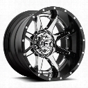 MHT Fuel Offroad Wheels Rampage D237, 22x10 Wheel with 8 on 170 Bolt Pattern - Chrome with Gloss Black Lip D23722001750 MHT Fuel Off Road Wheels