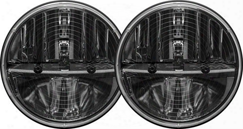 Rigid Industries Rigid Industries Truck-lite 7 Inch Round Heated Lens Led Headlights W/ Pwm Adaptors (chrome) - 55004 55004 Headlights, Housings And C