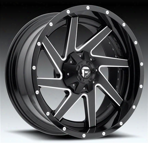 Mht Fuel Offroad Wheels Mht Fuel Offroad Renegade, 20x10 Wheel With 5 On 135 And 5 On 5 Bolt Pattern - Black Milled - D26520000547 D26520000547 Mht Fu