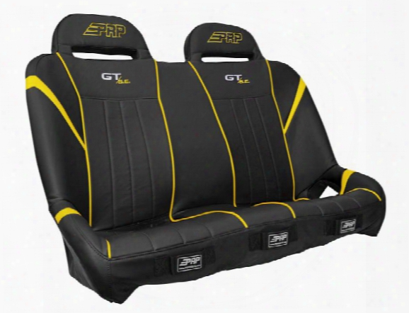 Prp Prp Gt/s.e. Suspension Bench, Black And Yellow - A60-h A60-h Utv Seats