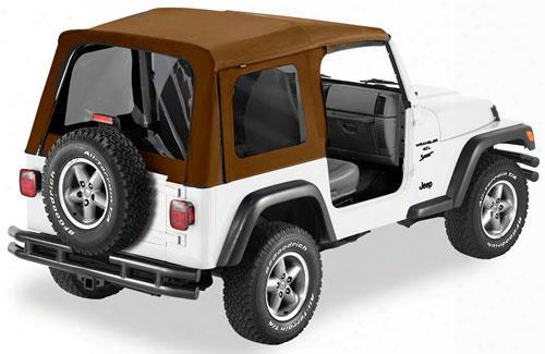 Bestop Supertop Tinted Windows No Doors Spice - Jeep Wrangler Soft Top