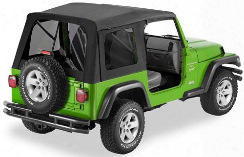 Jeep Wrangler Soft Top - Bestop Supertop Tinted Windows No Doors Black
