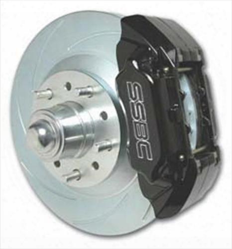 Stainless Steel Brakes Stainless Steel Brakes Extreme 4-piston Drum To Disc Brake Upgrade Kit (anodized) - A126-33 A126-33 Disc Brake Conversion Kits