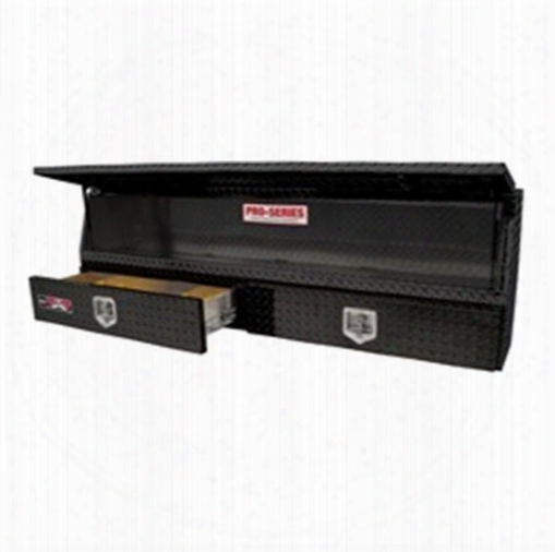 Westin Westin Brute Pro Series Contractor Top Sider Tool Box - 80-tbs200-88d-bd 80-tbs200-88d-bd Truck Bed Side Rail Tool Box