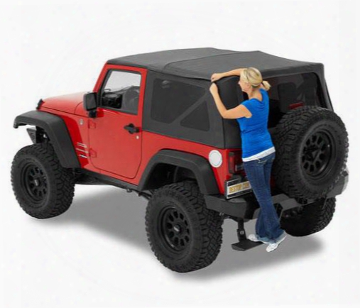 Jeep Soft Top - Bestop Supertop Nx Tinted Windows, Black, 54722-35