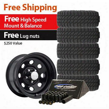 Genuine Packages Pro Comp Xtreme Mt2 Tire 35x12.50r15 And Pro Comp Series 97 Wheel 15x8 Package - Set Of 5 - Tirepkg56 Tirepkg56 Tire And Wheel Packag
