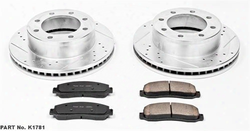 Power Stop Power Stop Z23 Evolution Sport Performance 1-click Brake Kit - K5573 K5573 Disc Brake Pad And Rotor Kits