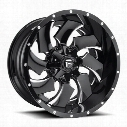 MHT Fuel Offroad Wheels Cleaver D239, 20x10 Wheel with 8 on 180 Bolt Pattern - Gloss Black Milled D23920001847 MHT Fuel Off Road Wheels