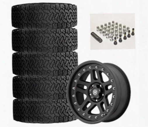 Genuine Packages Bf Goodrich All-terrain T/a Ko2 35x12.50r17 And Atx Cornice Ax195 17x9 Wheel Package - Set Of 5 - Tirepkg79 Tirepkg79 Tire And Wheel