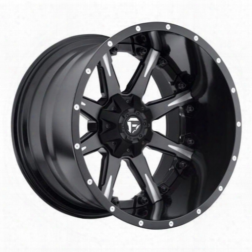 Mht Fuel Offroad Wheels Mht Fuel Offroad Nutz, 20x14 Wheel With 8 On 170 Bolt Pattern - Black Milled - D25120401745 D25120401745 Mht Fuel Off Road Whe
