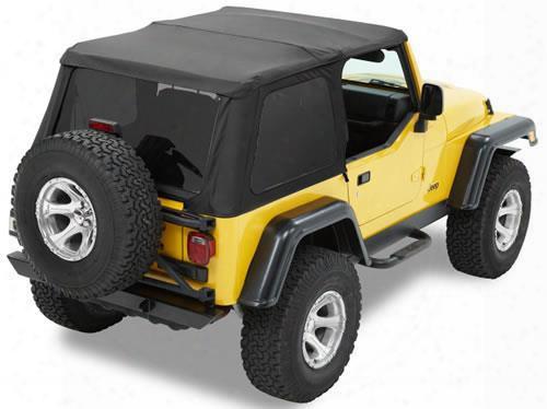 Bestop Trektop Nx, Tinted Windows, No Doors, Black - Jeep Soft Tops