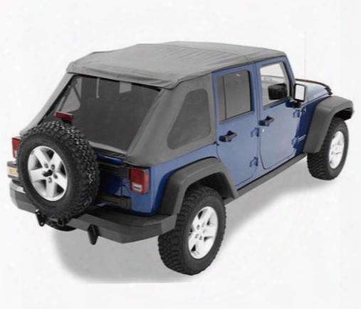 Jeep Jk Soft Top - Bestop Trektop Nx Tinted Windows, No Doors 56823-35
