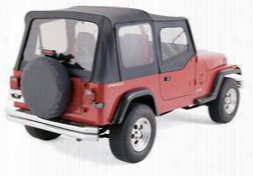 Rampage Rampage Complete Soft Top With Clear Windows (black Denim) - 68115 68115 Soft Tops