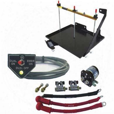Wrangler Nw Power Wrangler Nw Power Dual Battery Tray Kit (black) - 3-100-110000 3-100-110000 Battery Tray