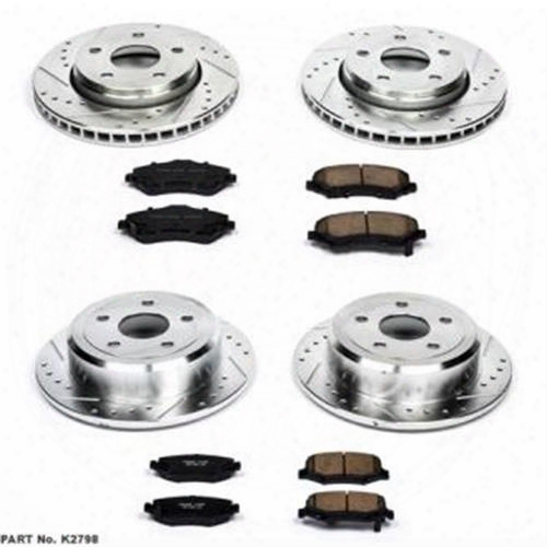 Power Stop Power Stop 1-click Drilled And Slotted Brake Kit - K6010 K6010 Disc Brake Pad And Rotor Kits