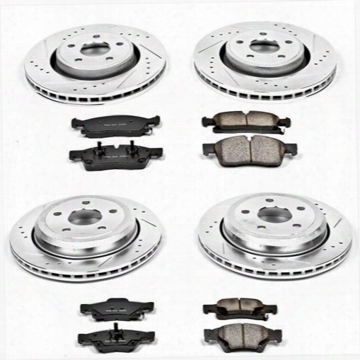 Power Stop Power Stop Performance Brake Upgrade Kit - K5955 K5955 Disc Brake Pad And Rotor Kits