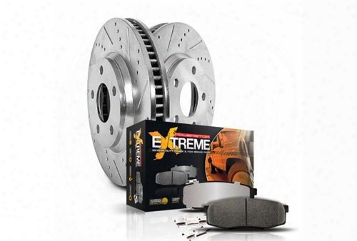 Power Stop Power Stop Z23 Evolution Sport Performance 1-click Brake Kit - K4471 K4471 Disc Brake Pad And Rotor Kits