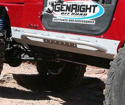 Genright Genright Mini Boat Side Rocker Guard With Side Bars For Stretch Kits (bare Steel) - Rcg-5303 Rcg-5303 Rock Sliders And Guards