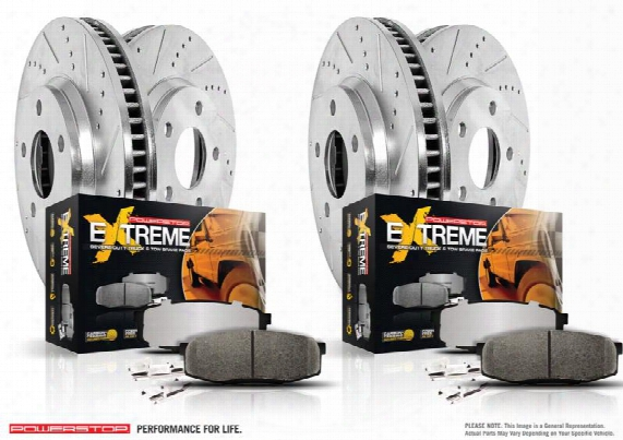 Power Stop Power Stop Z36 Severe-duty Truck And Tow 1-click Brake Kit - K6405-36 K6405-36 Disc Brake Pad And Rotor Kits