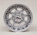 Hutchinson Wheels Hutchinson D.O.T. Beadlock, 17x8.5 Wheel with 8 on 6.5 Bolt Pattern - Sparkle Silver - 60669-047-03 60669-047-03 Hutchinson Wheels
