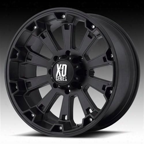 Moto Metal Xd Wheels Xd800 Misfit, 22x10 With 6 On 5.5 Bolt Pattern - High Temp Matte Black Coated-xd80022068724n Xd80022068724n Xd Series Wheels
