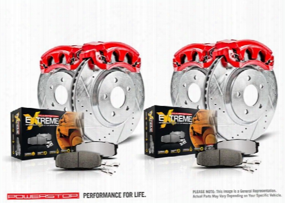 Power Stop Z36 Extreme Performance Truck And Tow 1-click Brake Kit W/calipers Kc2805-36 Disc Brake Calipers, Pads And Rotor Kits
