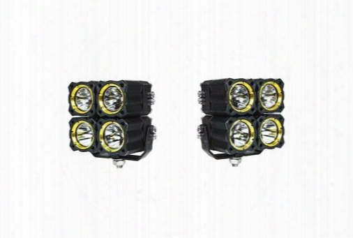 Kc Hilites Kc Hilites Flex Quad Led Combo Beam System (black) - 280 280 Offroad Racing, Fog & Driving Lights