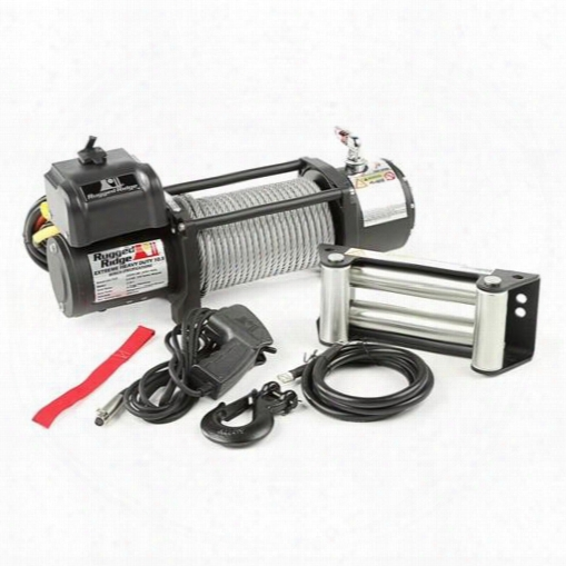 Rugged Ridge Rugged Ridge Spartacus Heavy Duty Winch, 10,500 Lbs - 15100.4 15100.40 8,000 To 10,500 Lbs. Electric Winches